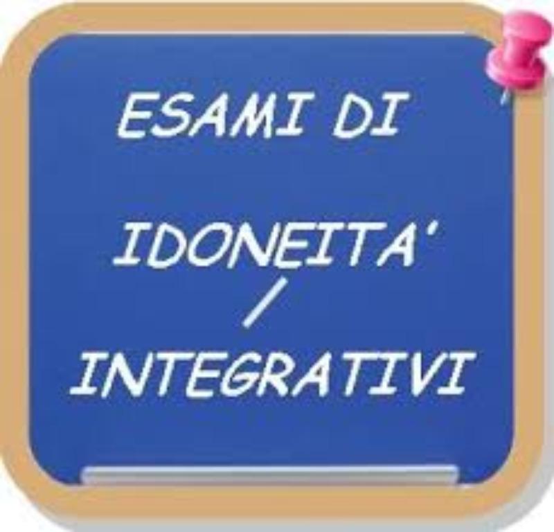 Verbali esami idoneità integrativi preliminari